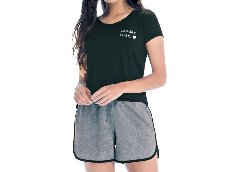 Pijama Blusa Manga Curta e Short - ZEE RUCCI