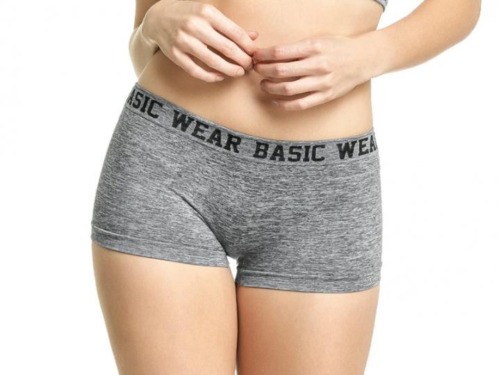 Calcinha Boxer Mescla Sem Costura Basic Wear - ZEE RUCCI