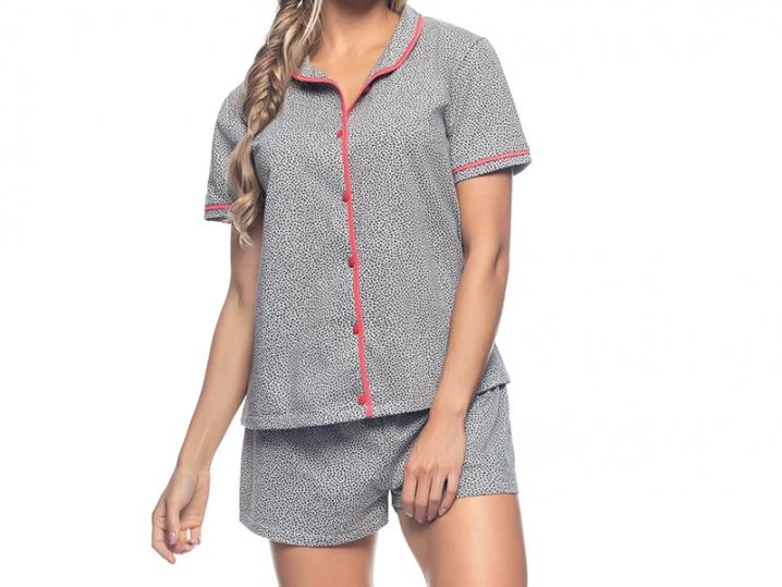 Pijama Aberto E Short Heart Print - ZEE RUCCI