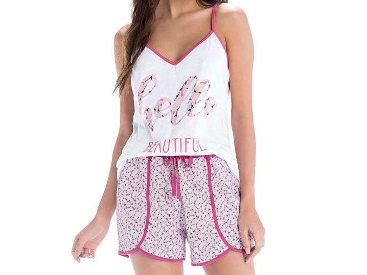 Pijama Blusa com Alça e Short - ZEE RUCCI
