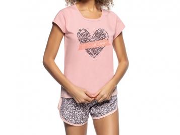 Pijama Blusa E Short Pink Animal Print
